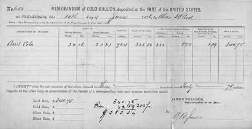 Mint bullion deposit form