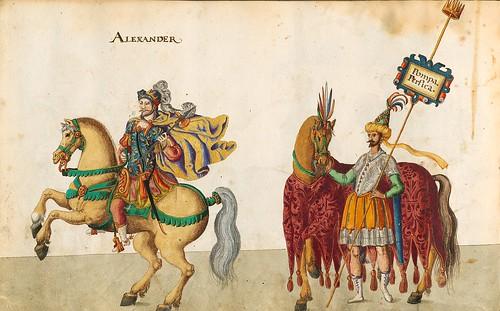 015- Cabalgata sobre los continentes-Asia-Descripción de las ocho festividades celebradas durante los juegos…1596-Biblioteca Estatal de Baviera