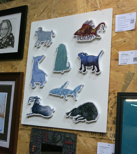 AAN2013 Fictional Animals by Stella Belikiewicz inkjet print mounted on wood