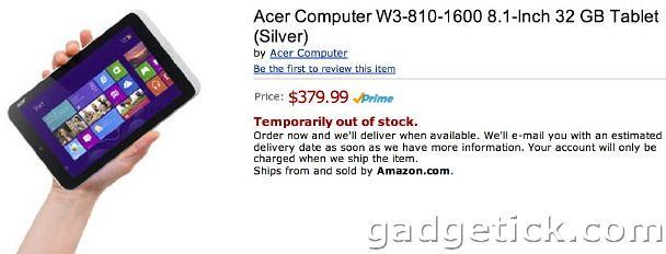 цена Acer Iconia W3