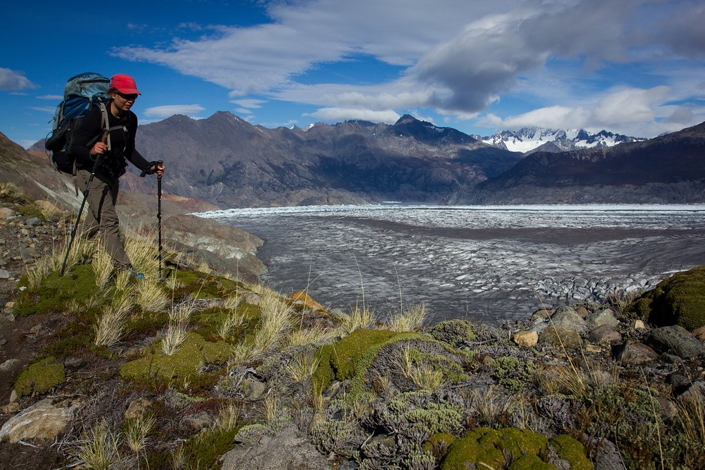 High on the moraine of Glaciar Viedma. Los Glaciares. Patagonia. Argentina.