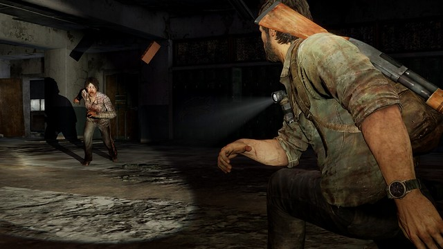 The Last of Us for PS3 - joel throws brick