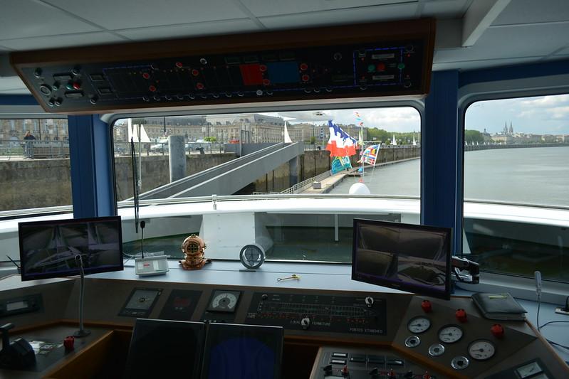 Timonerie - Visite du MS CYRANO DE BERGERAC - 17 mai 2013 - Bordeaux