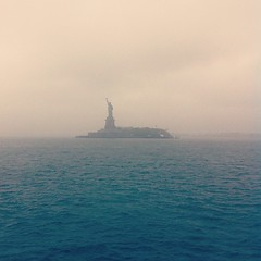 Lady Liberty in the mist