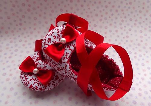 Sapatilha lacinho Vermelho by Cute for Baby by Mirian Rezende