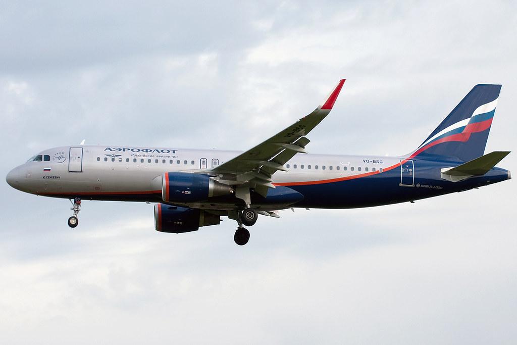 VQ-BSG - A320 - Aeroflot