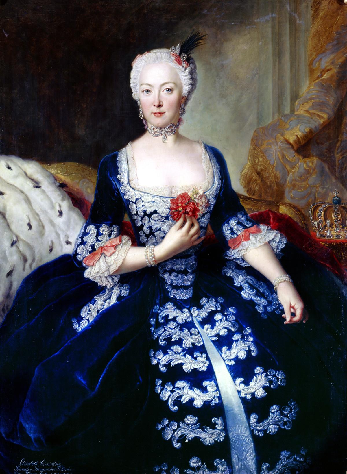 Portrait of Elisabeth Christine von Braunschweig-Bevern by Antoine Pesne, 1739