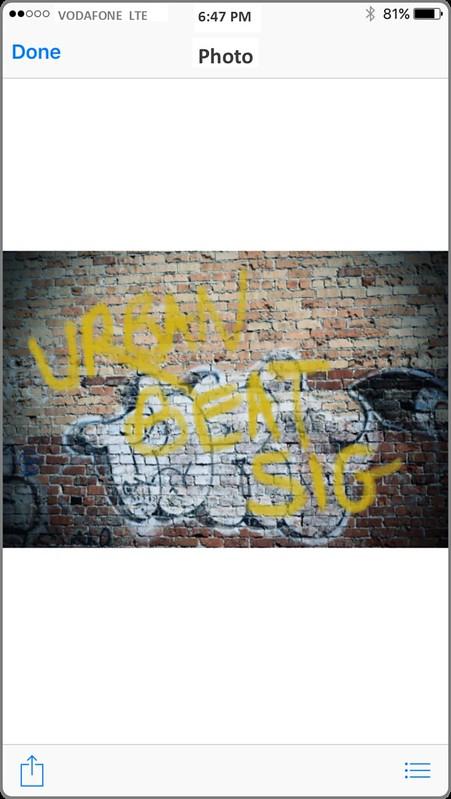 Graffiti on phone