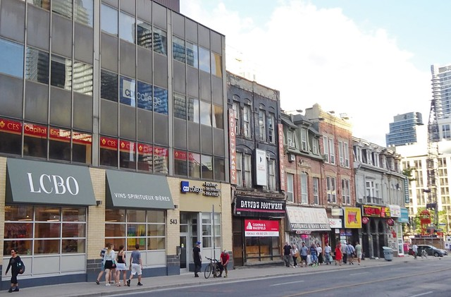 Downtown Yonge Street, south of Bloor St.