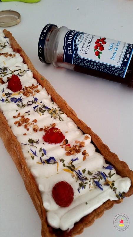 tarte coco-framboises-mon bonheur gourmand