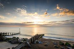 Sun Rising at Slaughden Beach