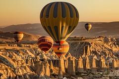 Ballooning in the amazing landscapes of Cappadocia, Turkey with @urgupballoons #travel #turkey #balloon