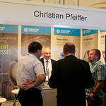 Delegates at the Christian Pfeiffer stand