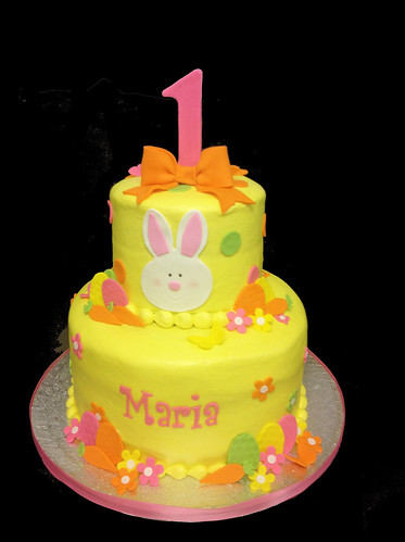 1st Birthday Easter Themed 2 tier cake