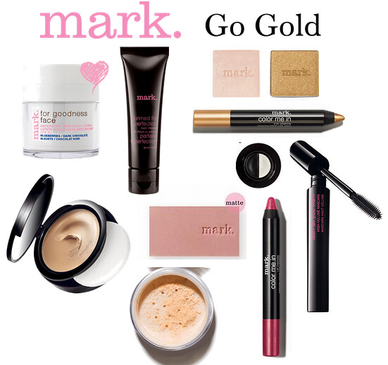 Living After Midnite: mark. Makeup Monday: Go Gold