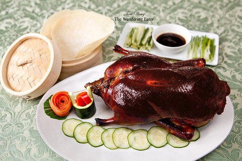 Whole roasted Peking style duck