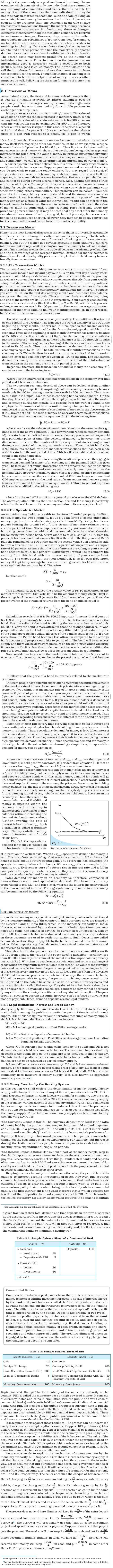 NCERT Class XII Economics Macroeconomics - Money and Banking