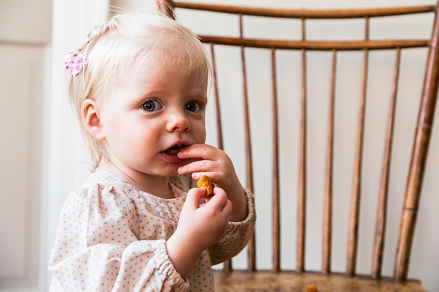 Clara Eating Roasted Vegetables