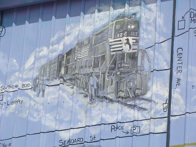 Wall mural train piedmont al flickr photo sharing for Alabama wall mural