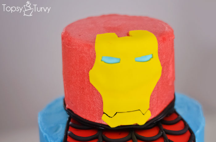 Superhero Birthday Cake Ashlee Marie Real Fun With Real Food