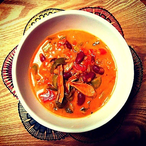 Organic Veggie and Bean Soup ☻
