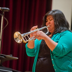 Jazz Festival -- Kelly Lamorena plays trumpet at the Jazz Festival feature concert