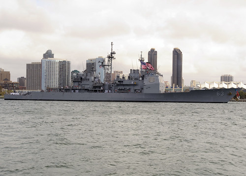 SAN DIEGO - The guided missile cruiser USS Cowpens (CG 63) and the guided missile destroyer USS Spruance (DDG 111) are scheduled to return to Naval Base San Diego April 17 following completion of separate deployments to the Western Pacific Ocean.