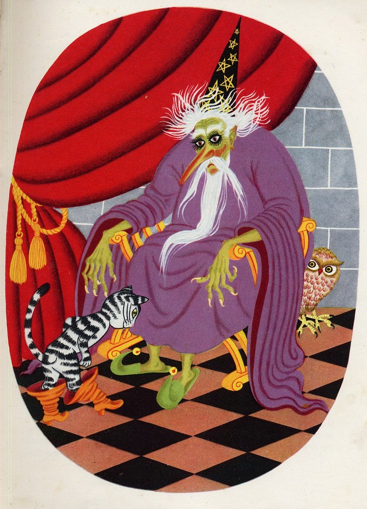 "Helena Zmatlíková - Illustration for Vitezslav Kocourek's ""The Tale Around The World"" Prague, 1957 (2)"