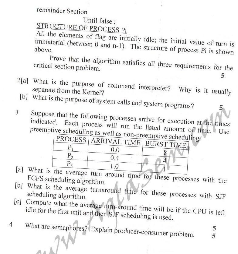 DTU Question Papers 2010 – 4 Semester - Mid Sem - IT-213