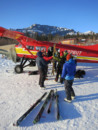 Plane access ski and splitboard touring with Wild Alpine Guides in Wrangell St Elais National Park Alaska