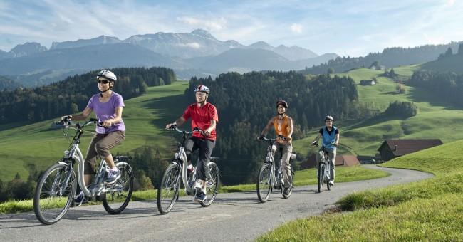Švýcarsko na akci Město na kolech