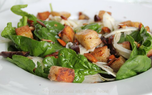 Baby Spinach Salad with Dates & Almonds 1