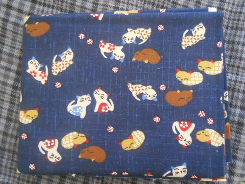 Japanese Kitty quilting fabric