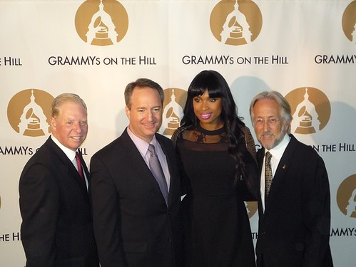 Pat Collins, Daryl Friedman, Jennifer Hudson, and Neil Portnow