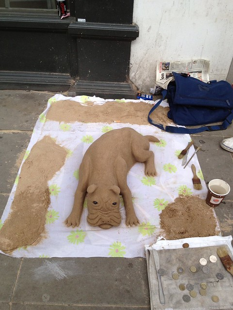 Sand Sculptured Dog