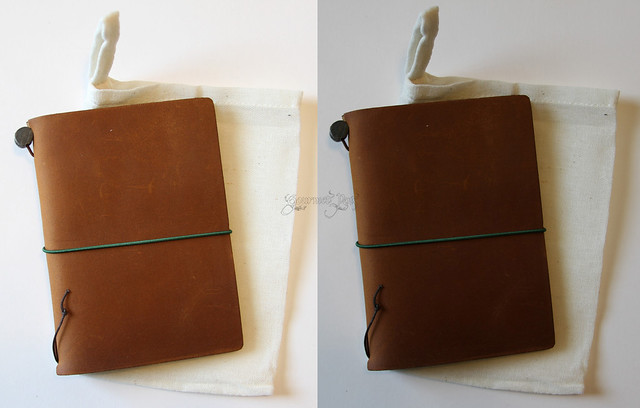 Midori Star Notebook Camel Cover Color