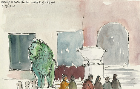 Waiting in line at the Art Institute, Chicago, IL by sumacm
