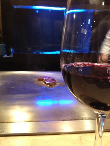 赤ワインの先はフォアグラ@湛山
