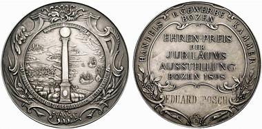 1898 Bolzano Jubilee prize medal