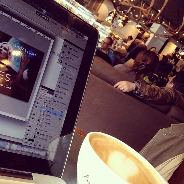 Dagens caféjobbhäng.