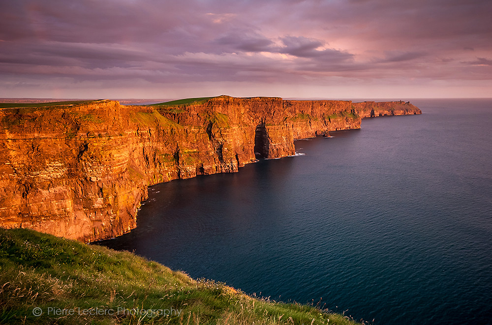 Cliffs of Moher, Ireland at sunset