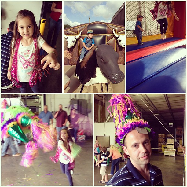 Crawfish, piñatas, & bounce houses oh my!! Oh and a bull, too! That's what our Friday was made of!