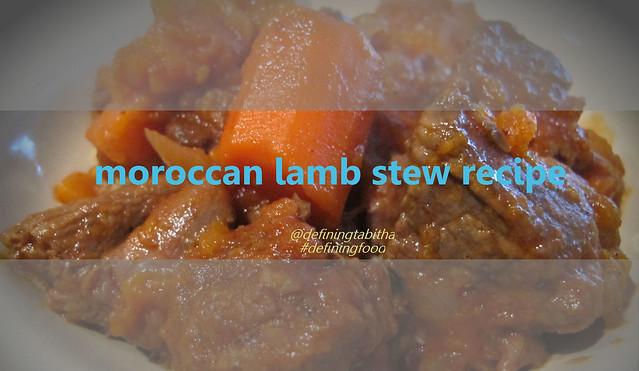 moroccon lamb stew