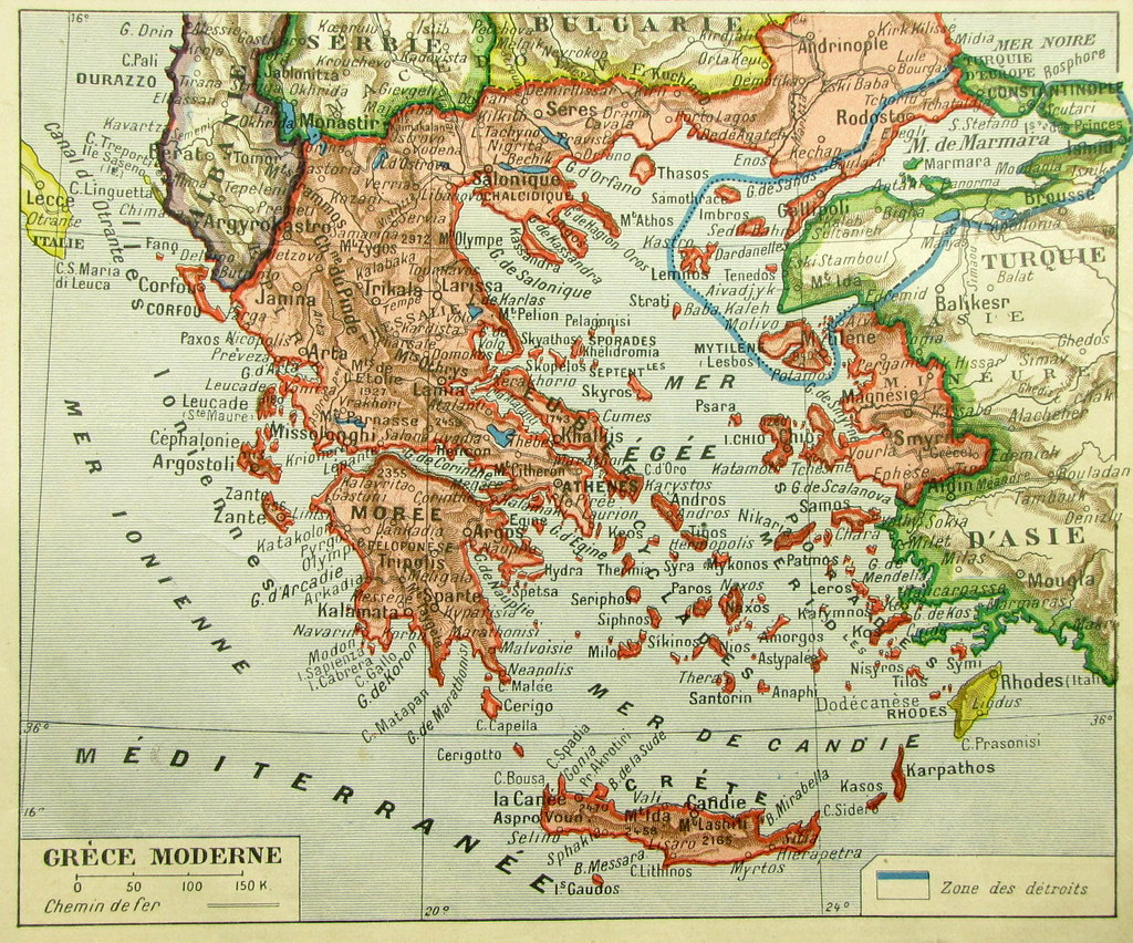 Afternoon Map Greater Greece - Greece in the treaty of sevres