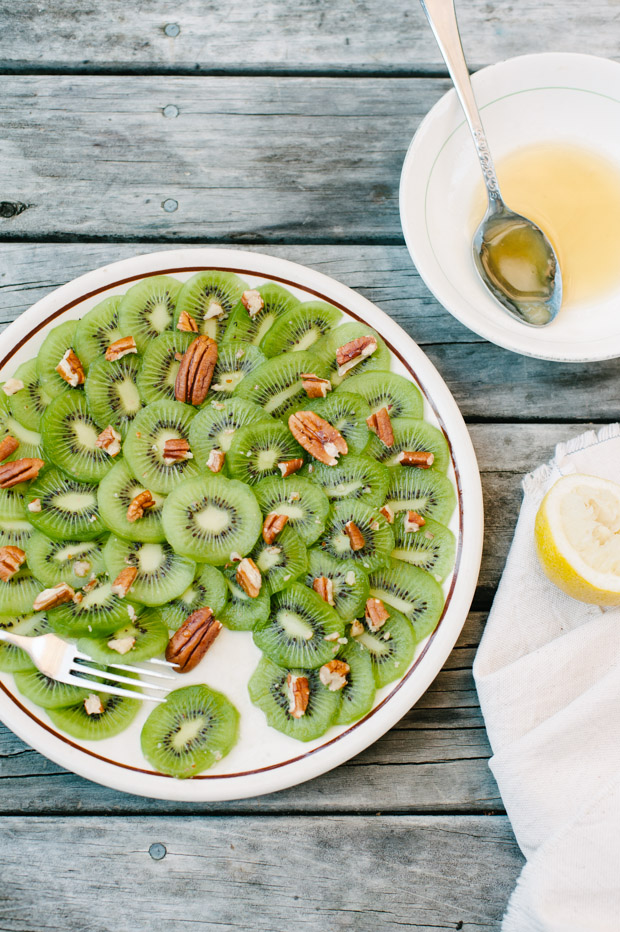 Kiwi Carpaccio with Pecans