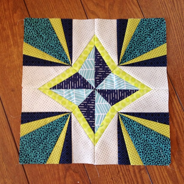 Finally finished my April #luckystarsbom (just in time to get my May block pattern tomorrow )
