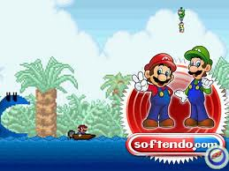 Mario na łodzi