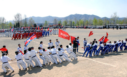 Празднование Первомая в Пхеньяне - столице страны, где полностью реализованы мечты рабочих