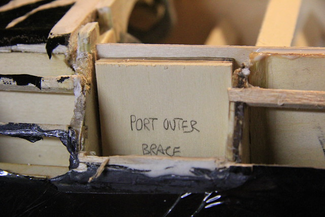 Port outer brace - test fit