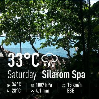 今日のサムイ島 暑い午後はスパで